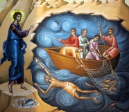 itrhumc- Jesus viser seg for disiplene etter oppstandelsen. Veggmaleri
