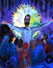 trhumc - Den oppståtte Kristus, malt av Mollie Walker Freeman