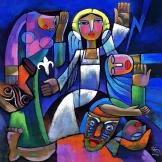 trhumc - Engelen hilser kvinnene ved graven i He Qi's maleri %22Påskemorgen