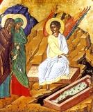 trhumc-Engelen viser kvinnene den tomme graven