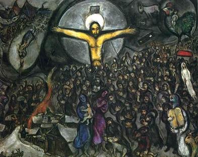 trhumc- Marc Chagall bruker korsfestelsen i sitt maleri %22Exodus%22