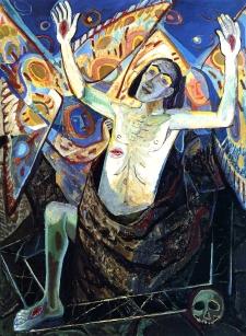 trhumc- Oppstandelsen malt av tyskeren Otto Dix (1891-1969)