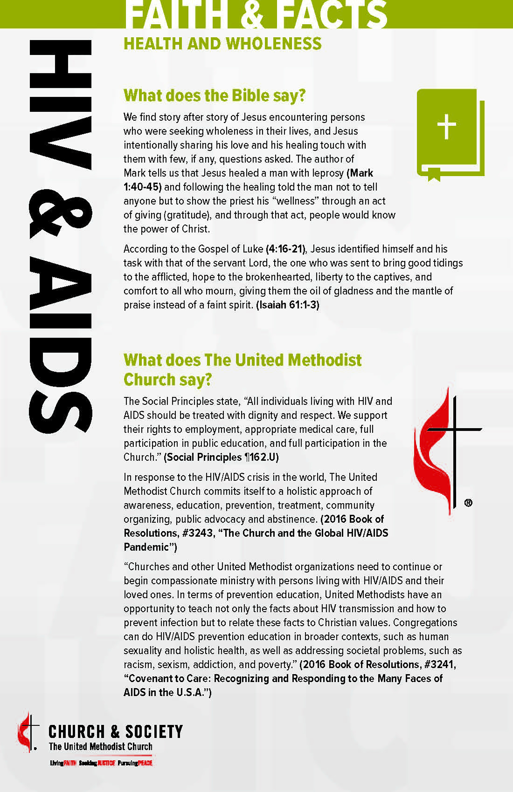 Faith and Facts Card — HIV and AIDS_Side_1