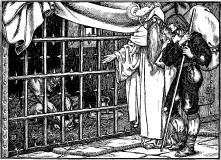 pilgrim-mann i bur