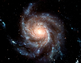 "This new Hubble image reveals the gigantic Pinwheel galaxy, one of the best known examples of ""grand design spirals"", and its supergiant star-forming regions in unprecedented detail. The image is the largest and most detailed photo of a spiral galaxy ever taken with Hubble."