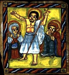 trhumc-Jesu oppstandelse i illustrert egyptisk salmebok fra 1700-takllet
